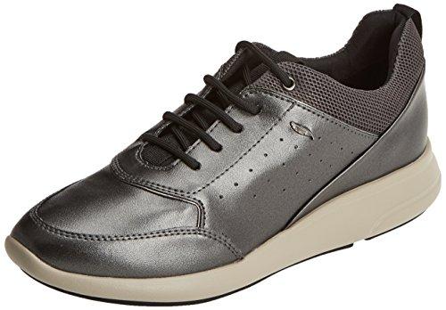 Geox ophira b, scarpe da ginnastica basse donna, grigio (dk grey), 38 eu