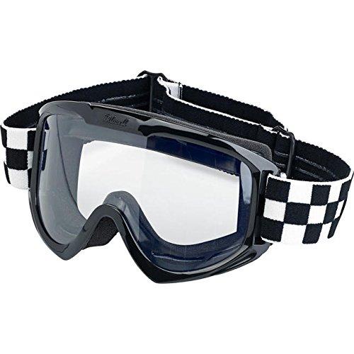 Motorrad Brille Goggle Objektiv-Biltwell Checkers transparent elastische Bandage Stil Café Racer Biker