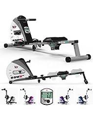 We R Sports Premium-Rudergerät, Heim-Rudergerät zum Trainieren, für Fitness, Kardio, Workout, Gewichtsabbau