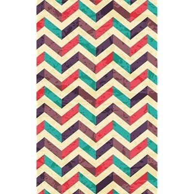 Carnet de Mots de Passe: A5 - 98 Pages - 105 - Motifs Geometriques - Chevrons - Couleurs