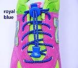 Lacci rapidi Foxhound ® (Lock Laces) elastici e riflettenti ,novità scarpe uomo donna,ideali come accessorio per sport,running,bambini,scuola,outdoor,camping. (Blue)