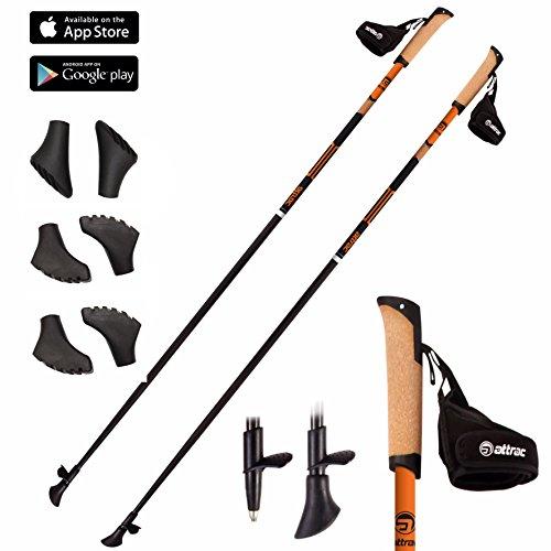 Bastoncini nordic walking in carbonio a scelta: 105 cm / 110 cm / 115 cm / 120 cm / 125 cm / 130 cm - (110 cm)