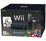 Nintendo Wii - Console Mario Kart Pack, Nera (Black)