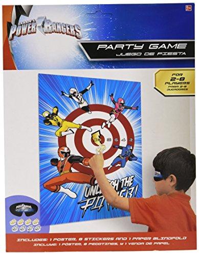 Shindigz 270215 Power Rangers Ninja Steel; Partyspiel, 28 cm 22,9 cm, mehrfarbig