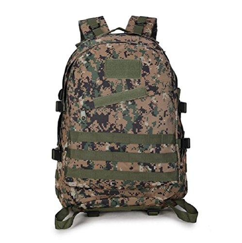 Minetom 40L Camouflage Tactical Rucksack Erwachsene Taktischer Militär Rucksäck Outdoor Oxford Leichtgewichtig Wanderrucksäcke Camouflage C Einheitsgröße (Rosa Camouflage-rucksack)