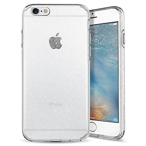 iPhone 6S Hülle, Spigen® [Liquid Crystal Glitter] Glitzer Design [Crystal Quartz] Glänzende Soft Flex Premium TPU Silikon Bumper Style Handyhülle Perfekte Passform Schutzhülle für Apple iPhone 6/6S Case Cover - Crystal Quartz (035CS21755)