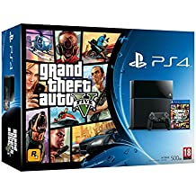 PlayStation 4 - Consola, Color Negro + GTA V