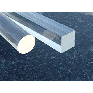 Perspex Square Bars 20x 20 mm Long 500 mm Acrylic Bar polished colorless