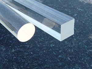 Barres carrées acrylique, 10 x 10 mm longeur 500 mm transparente (plexiglass) Bar carré