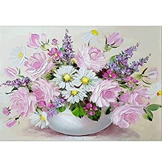XIYAO 5D Diamond Painting Kits - Vivid Fresh Flowers - Full Diamond 5D DIY Diamond Painting for Home Decor