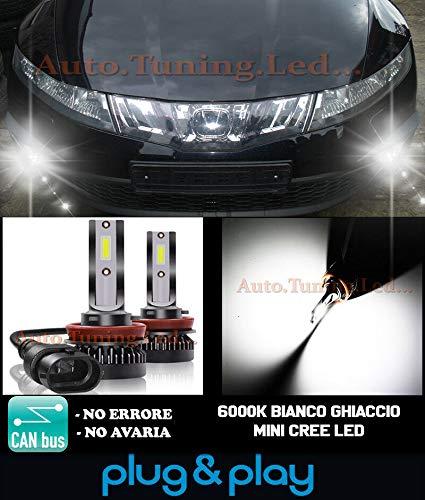 AUTOSLR LAMPADE FENDINEBBIA A LED CREE Compatibile con Honda Civic 8 VIII Bianco 6000K CAMBUS 8000LM