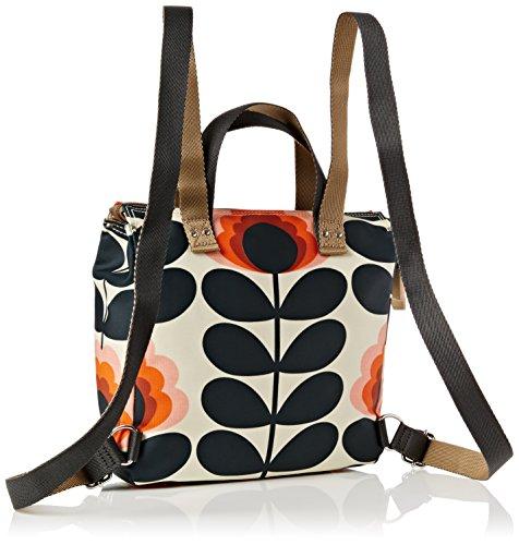 Orla Kiely Women's Summer Flower Stem Small Backpack Backpack Yellow (Sunset)