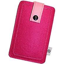 Filz-Tasche in Pink für Samsung Galaxy A5 (2017), Hochwertige Handy-Hülle, Schutz-Cover mit Herausziehband und Drucknopf, reißfestes Schutz-Etui - L Dealbude24