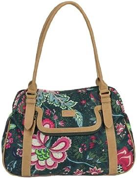 Oilily Paisley Flower M Carry All Grün Damen Handtasche Tasche Henkeltasche