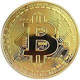 Justdodo Oro / Argento Bitcoin Moneta Bronzo Bitcoin fisici Moneta da Collezione BTC Collezione d'Arte della Moneta Decorazio