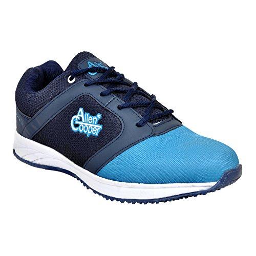 Allen Cooper ACSS-31 Navy Sky Blue Sports Running Shoes For Men (9) image - Kerala Online Shopping