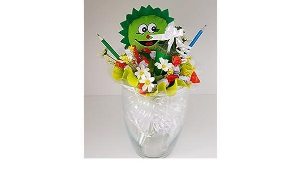 Pralinen Strauß Einschulung grün, Geschenk für Kinder zur ...