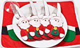 Set di 6 Portaposate ( 3 Pan di zenzero + 3 Babbo Natale )
