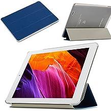 avidet Ultra Slim Carcasa Case ultraligeros Soporte Smart Shell Cover Para Teclast X98Plus II Funda para Teclast X98Plus II–Tablet PC azul azul