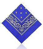 Paisley Bandane by Lizzy - cotone, Blu reale, 100% cotone, Da Donna, One size