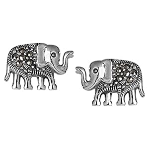 Somma 925 BIS Hallmarked Silver Made with Swarovski Marcasite Earrings for Women