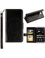 iPhone 7caso, w-pigcase en relieve funda de piel sintética con cierre magnético y soporte de tarjeta de ID/crédito integrado función atril Bookstyle Cartera Carcasa Piel portátil carcasa para iPhone 7