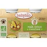 Babybio Pots Maïs Doux d'Aquitaine 260 g - Lot de 6