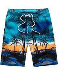 ISSHE Bañadores Hombre Bañador Natacion Surfero Corto Hombres Traje De Baño  Playa Hombre Bañadores Surferos Estampados Pantalones… a346880b8ca