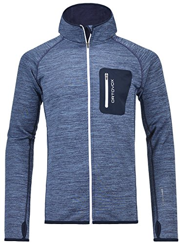 Ortovox Herren Fleece Melange Hoody, Night Blue Blend, XL