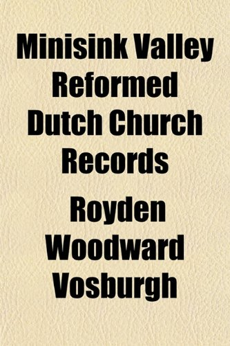 Minisink Valley Reformed Dutch Church Records