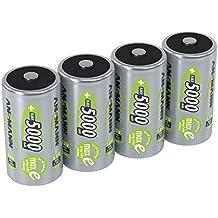 ANSMANN 5030922 maxE 5000 mAh Mono D precargado batería de muy poca descarga 4 Pack