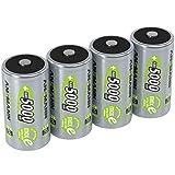 ANSMANN Akku D Mono 5000mAh 1,2V NiMH 4 Stück für Geräte mit hohem Stromverbrauch - Wiederaufladbare Batterien maxE - Akkus für Spielzeug, Taschenlampe, Radio, Modellbau uvm - Rechargeable Battery