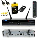 Octagon SF8008 4K UHD 2160P H.265 HEVC E2 Linux Dual WiFi DVB-S2X & T2C Combo Receiver + 1TB Festplatte USB 3.0 -