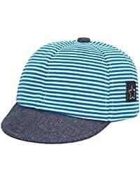 EOZY Bébé Garçon Fille Chapeau Classique Casquette Rayée Simple Doux Visière Bleu