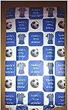 Baby Wickelauflage, gepolstert,–Daddy 's Little Schleimer–Fußball Thema Blau