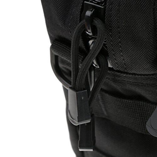 Taktishe Umhängetasche, Multi-Taschen Design Tragetasche Schwarz