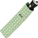 Doppler Mini Automatik-Taschenschirm Havanna UV-Protect - Palma - grün