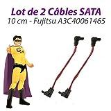 Fujitsu Pack x2 Kabel sata A3C40061465 siemens esprimo c5900 10cm pink