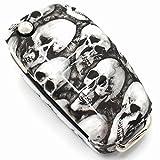 Schlüssel Hülle AB für 3 Tasten Auto Schlüssel Silikon Cover von Finest-Folia (.Totenkopf)