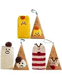 Christmas Socks, Tronking 3 Pairs Xmas Socks Fleece Casual Socks Fuzzy Christmas Socks for Women and Girls