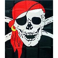 Primi Cool Cruz Huesos bandera pirata Calavera bandera negro
