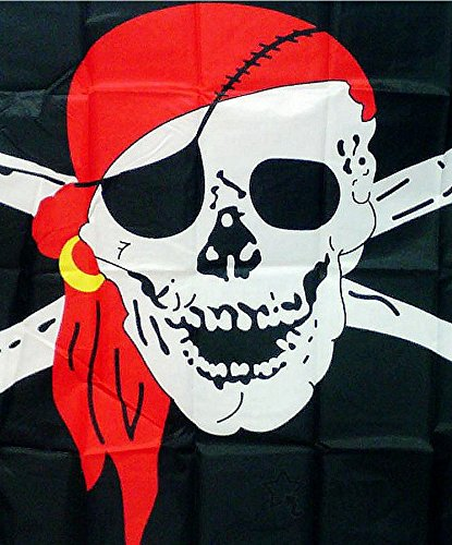 PRIMI Cool Kreuz Knochen Flagge Skull Piraten Flagge schwarz