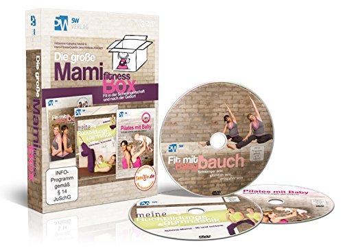 Die große Mami-Fitness-Box - Fit in der Schwangerschaft & nach der Geburt ++ (3 DVDs: Fit mit Babybauch, Meine Rückbildungsgymnastik & Pilates mit Baby) ++ Das perfekte Geschenk ++