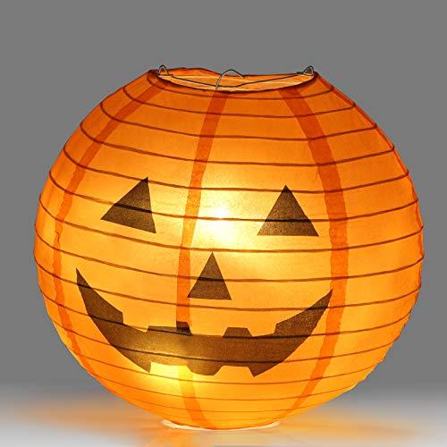 """KESOTO Halloween Lampions Kürbis Set, 10 Stück Hängedekoration für Halloween Party (6""""+ 8""""+10""""+12"""") - 5"""