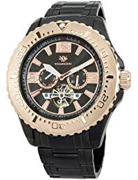 Wellington Herren-Uhr XL Cork Analog Automatik Edelstahl besch. WN301-622B
