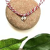 Martenitsa martisor baba marta martakia martis bracelet with HEART charm - adjustable