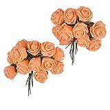 Majik Hair Accessories Flowers (SET OF 24 FLOWERS) (Orange)