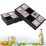 Stampi per Ghiaccio, 2 pezzi Stampi Per Ghiaccio In Silicone Certificato FDA, Stampo per cubetti di ghiaccio Riutilizzabile Senza BPA per Acqua, Cocktail, Whisky e Altre Bevande