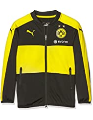 Puma Veste pour enfant BVB pour homme Sponsor Logo, Black/Cyber Yellow