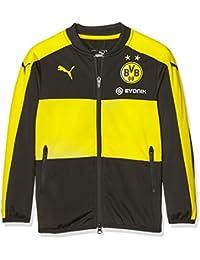 Puma BVB–Chaqueta infantil Poly Jacket with Sponsor Logo, Black de cyber Yellow, 152, 74987301